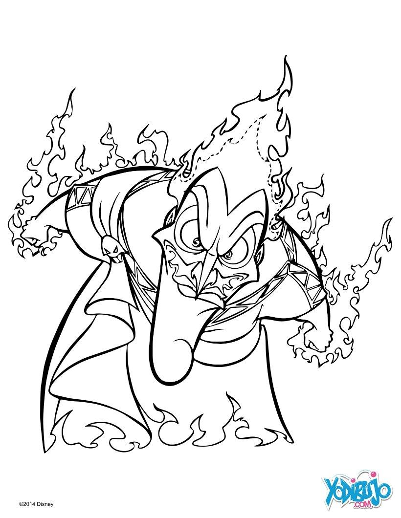Dibujos para colorear hades el enemigo de hercules - es.hellokids.com