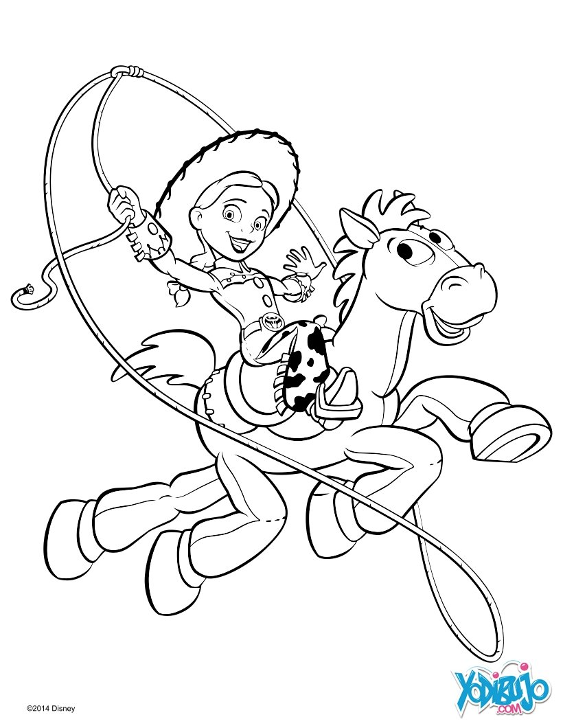 Dibujos para colorear jessie y perdigón de toy story - es.hellokids.com