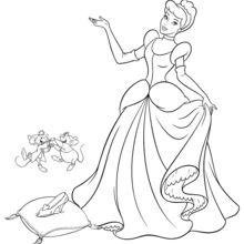 Dibujo para colorear : La zapatilla de Cristal