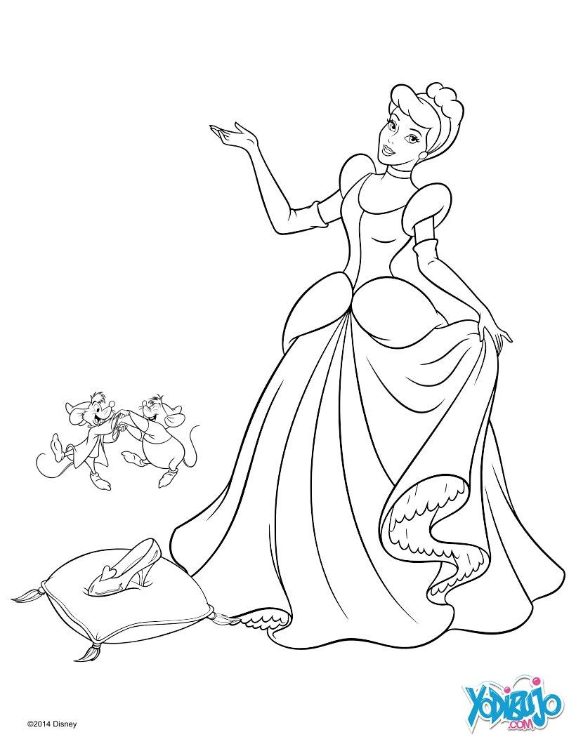 Dibujos Para Colorear La Zapatilla De Cristal Es Hellokids Com