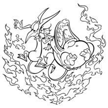 Dibujo para colorear : Pena y Pánico de Hercules