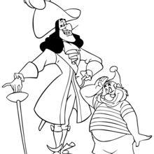 Dibujo para colorear : Sr. Smee y el Capitán Garfio