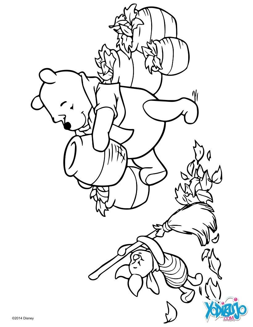 Dibujos para colorear winnie y puerquito (piglet) - es.hellokids.com