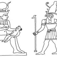 Dibujo para colorear : Dioses egipcios