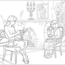 Dibujo para colorear : EL fauno Tumnus y Lucy Pevensie