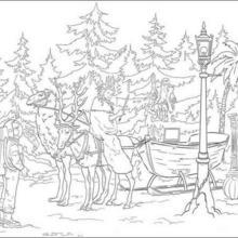 Dibujo para colorear : Jadis, la Bruja Blanca y Edmund Pevensie