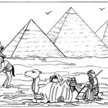 Dibujo para colorear : PIRAMIDE en Egipto