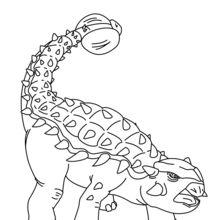 Dibujo para colorear : Anquilosaurio para imprimir