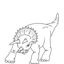 Dibujo para colorear : Dinosaurio con 3 cuernos