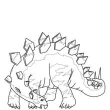 Dibujo para colorear : Estegosaurio para imprimir