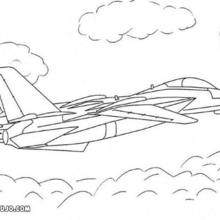 Dibujo para colorear : avión de caza