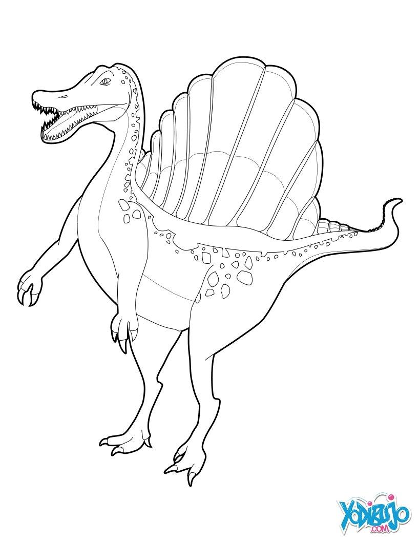 Dibujos para colorear espinosaurio - es.hellokids.com