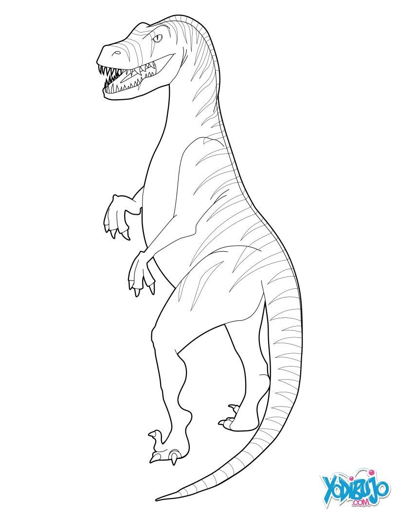 Dibujos para colorear velociraptor para imprimir - es.hellokids.com