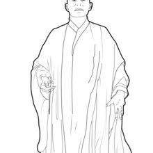 Dibujo para colorear : Voldemort