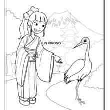 Dibujo para colorear : Akito la japonesa