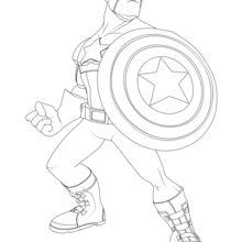 Dibujo para colorear : Capitán América