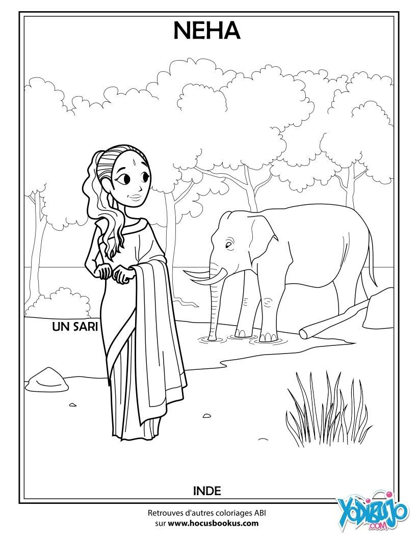 Dibujos para colorear neha la india - Coloriage inde ...