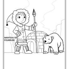 Dibujo para colorear : Inuit