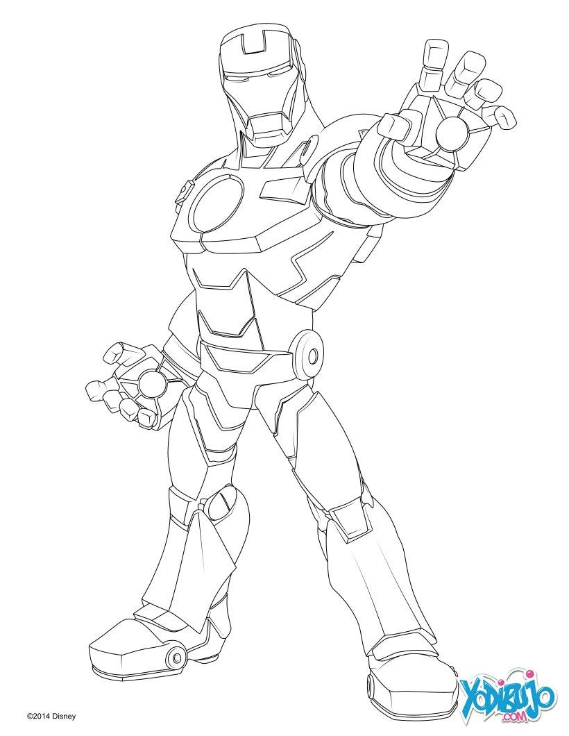Dibujos Para Colorear Iron Man Eshellokidscom