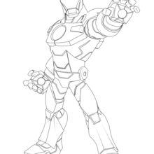Dibujo para colorear : Iron Man