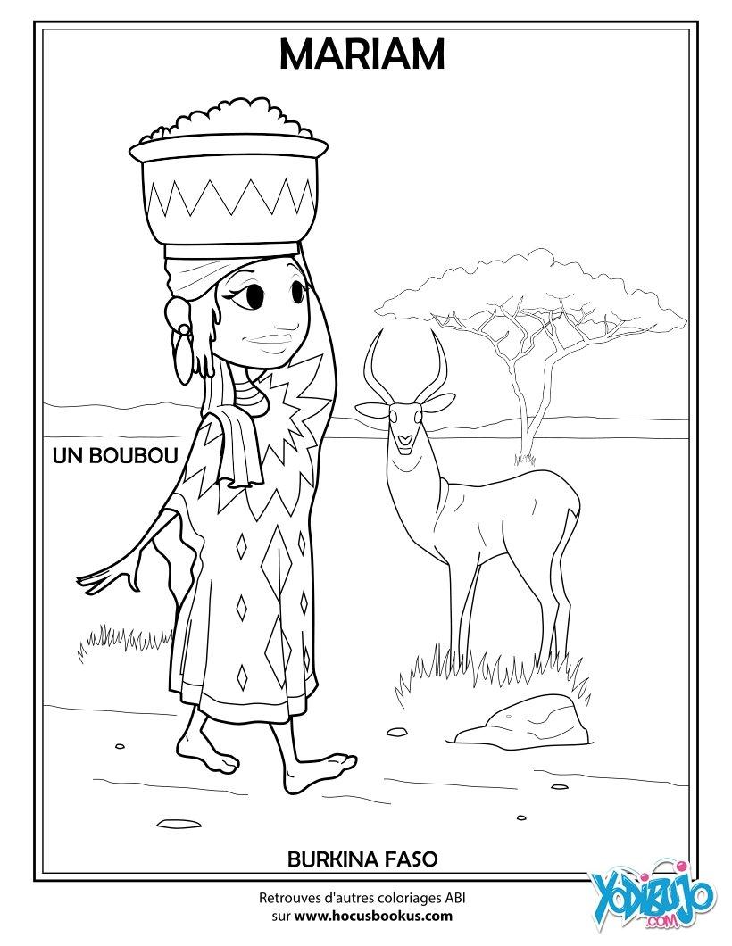 Dibujos para colorear mariam de africa del oeste - Dessin africaine ...