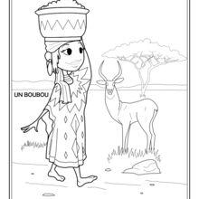 Dibujo para colorear : Mariam de Africa del Oeste