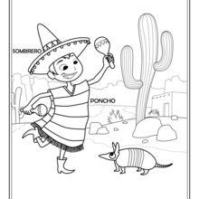 Dibujo para colorear : Mexicano