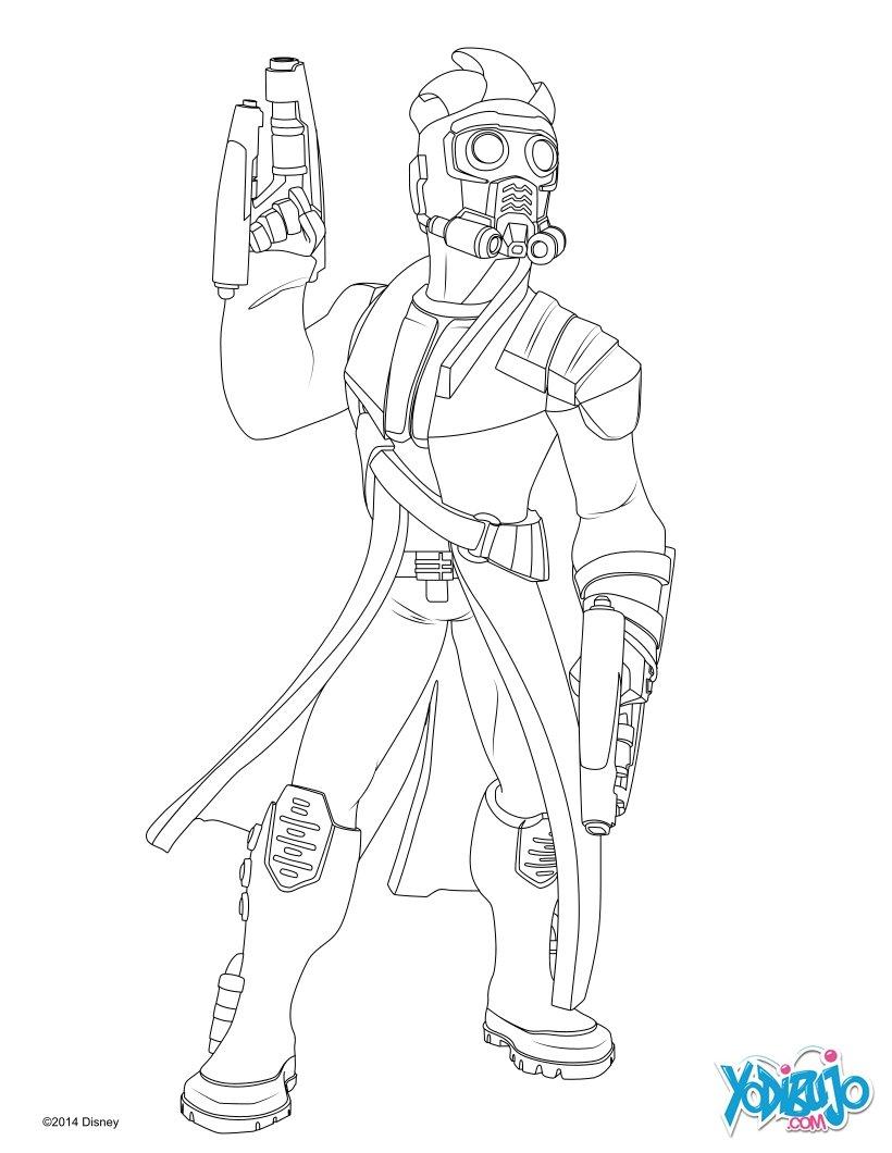 Dibujo para colorear : Star-Lord