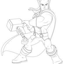 Dibujo para colorear : Thor