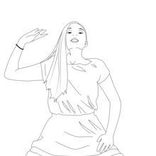 Dibujo para colorear : Coregrafía de María Sagana