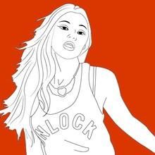 cantante, Dibujos de María SAGANA para colorear