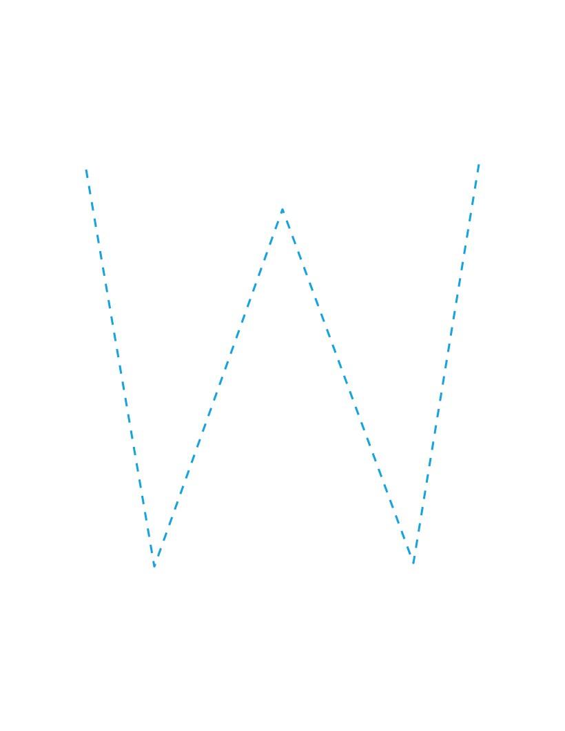 Aprender a escribir : La letra W