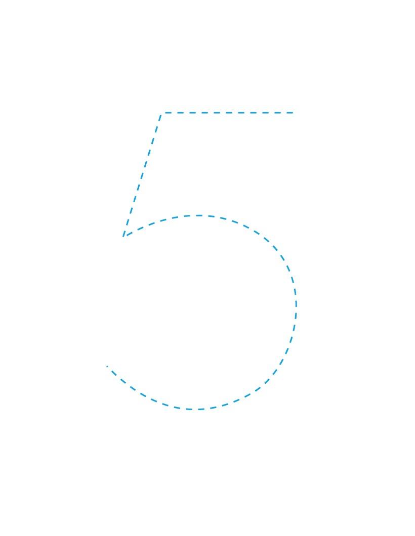 Aprender a escribir : El número 5