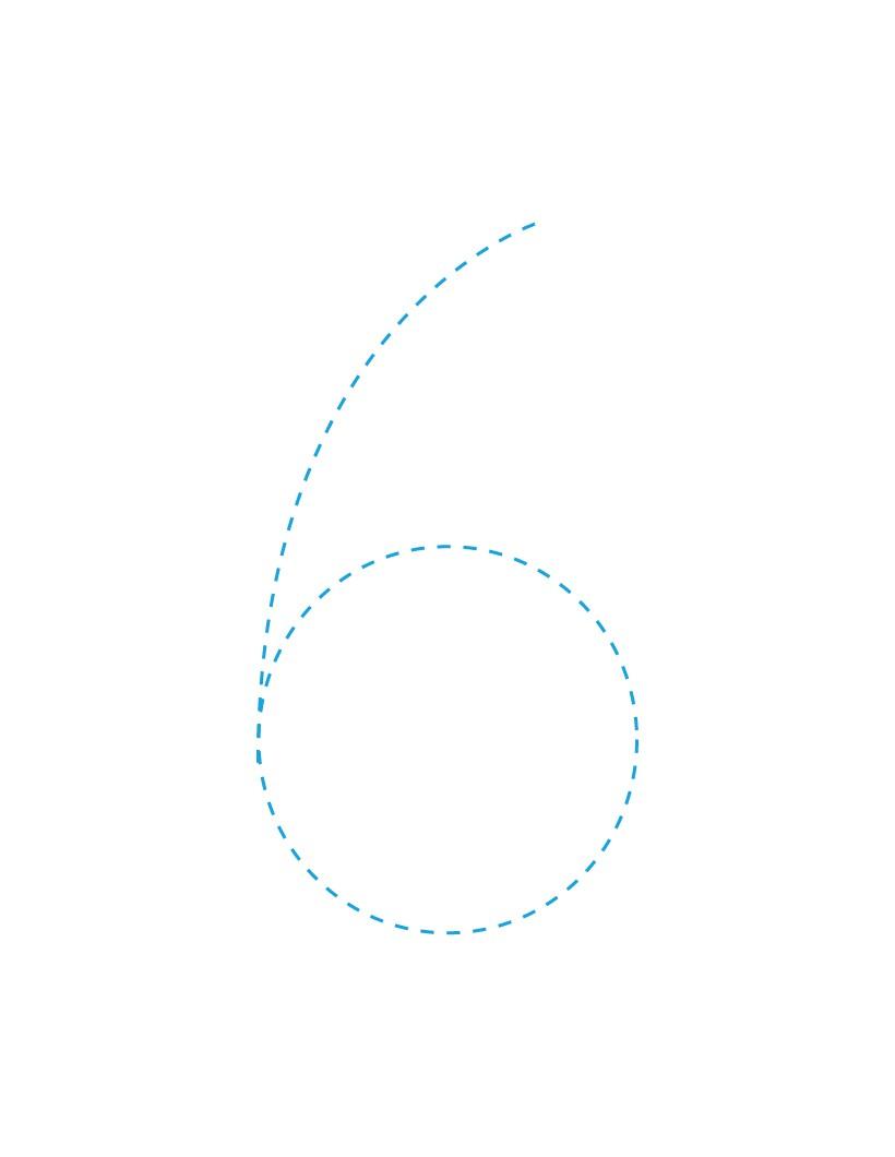 Aprender a escribir : El número 6