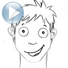 Truco para dibujar en vídeo : Dibuja una expresión facial: alegría