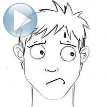 Truco para dibujar en vídeo : Dibujar una expresión facial: ansiedad