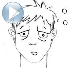Truco para dibujar en vídeo : Dibujar una expresión facial: el cansancio