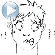 Truco para dibujar en vídeo : Dibujar una expresión facial: el miedo