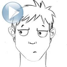 Truco para dibujar en vídeo : Dibujar una expresión facial: la indiferencia