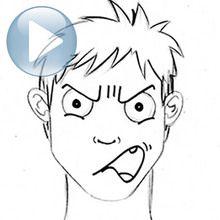 Truco para dibujar en vídeo : Dibujar una expresión facial: la ira