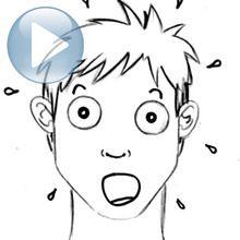 Truco para dibujar en vídeo : Dibujar una expresión facial: sorpresa