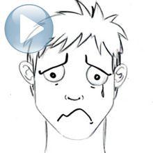 Truco para dibujar en vídeo : Dibujar una expresión facial: tristeza