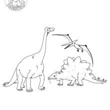 Dibujo para colorear : Dinosaurios