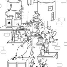 Dibujo para colorear : Elaboración de la pócima mágica