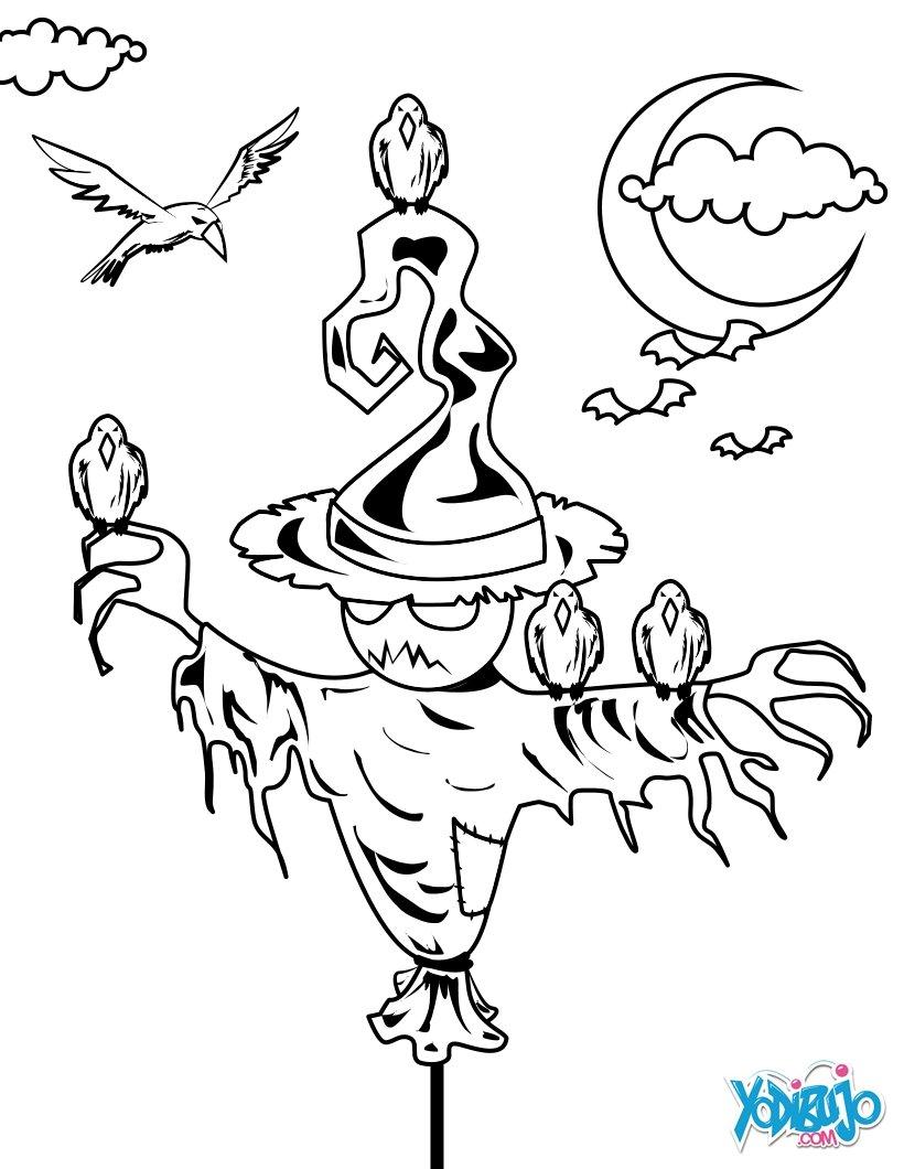 Dibujos para colorear las princesas de halloween - es.hellokids.com