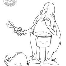 Dibujo para colorear : Maestro sin su barba