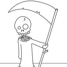 Dibujo para colorear : La Muerte con su guadaña