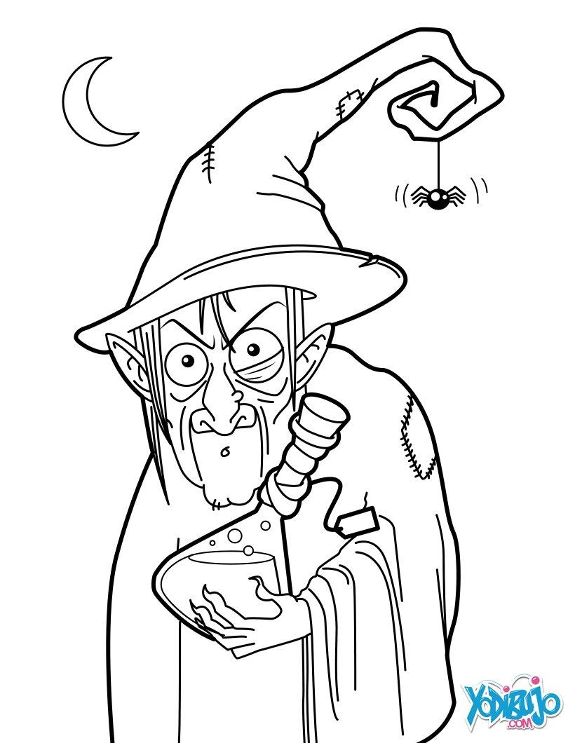 Dibujos para colorear pocima de la bruja fea - es.hellokids.com