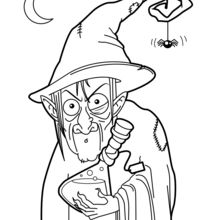 Dibujo para colorear : Pocima de la bruja fea