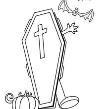 Dibujo para colorear : Renacimiento de un muerto
